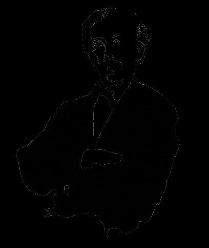 Portret Pieter Anton Tiele in zwart-wit