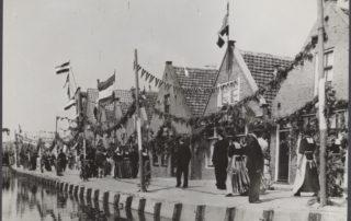 Zwart-wit foto bevrijding Nederland